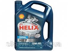Автомобильное моторное масло полусинтетическое Shell Helix Diesel HX7 10W40 4L