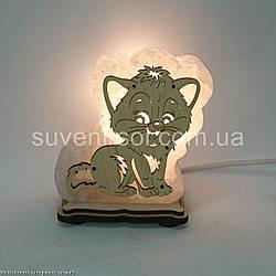 Соляная лампа  Кот маленький