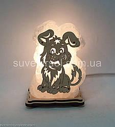 Соляна лампа Собака маленька