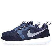 Nike Roshe Run мужские кроссовки темно-синие