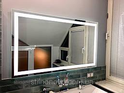 Зеркало для ванной комнаты с подсветкой влагостойкое 1000 х 700