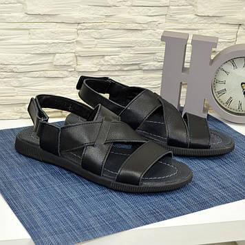 Сандалии мужские кожаные черного цвета. В наличии все размеры
