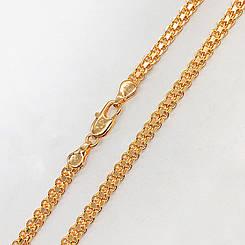 "Цепочка Xuping Jewelry 45 см х 4 мм ""Итальянский Бисмарк"" медицинское золото, позолота 18К. А/В 2707"