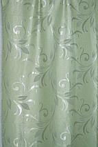 """Штора Блекаут """"Королівські пелюстки зелень"""" світлонепроникні штори, фото 3"""