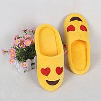 Тапочки домашние женские комнатные Смайлики (размер 35-36)