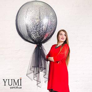 Стильный шар-гигант конфетти и фатином , фото 2