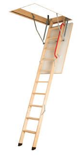 Сходи на горище з дерев'яною драбиною LWK Komfort 120*70 Факро Fakro