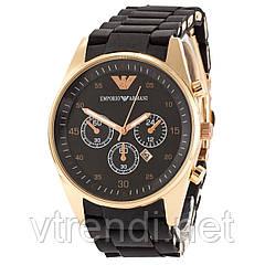 Элитные часы унисекс Emporio Armani черные