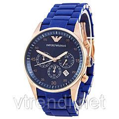 Элитные часы унисекс Emporio Armani синие