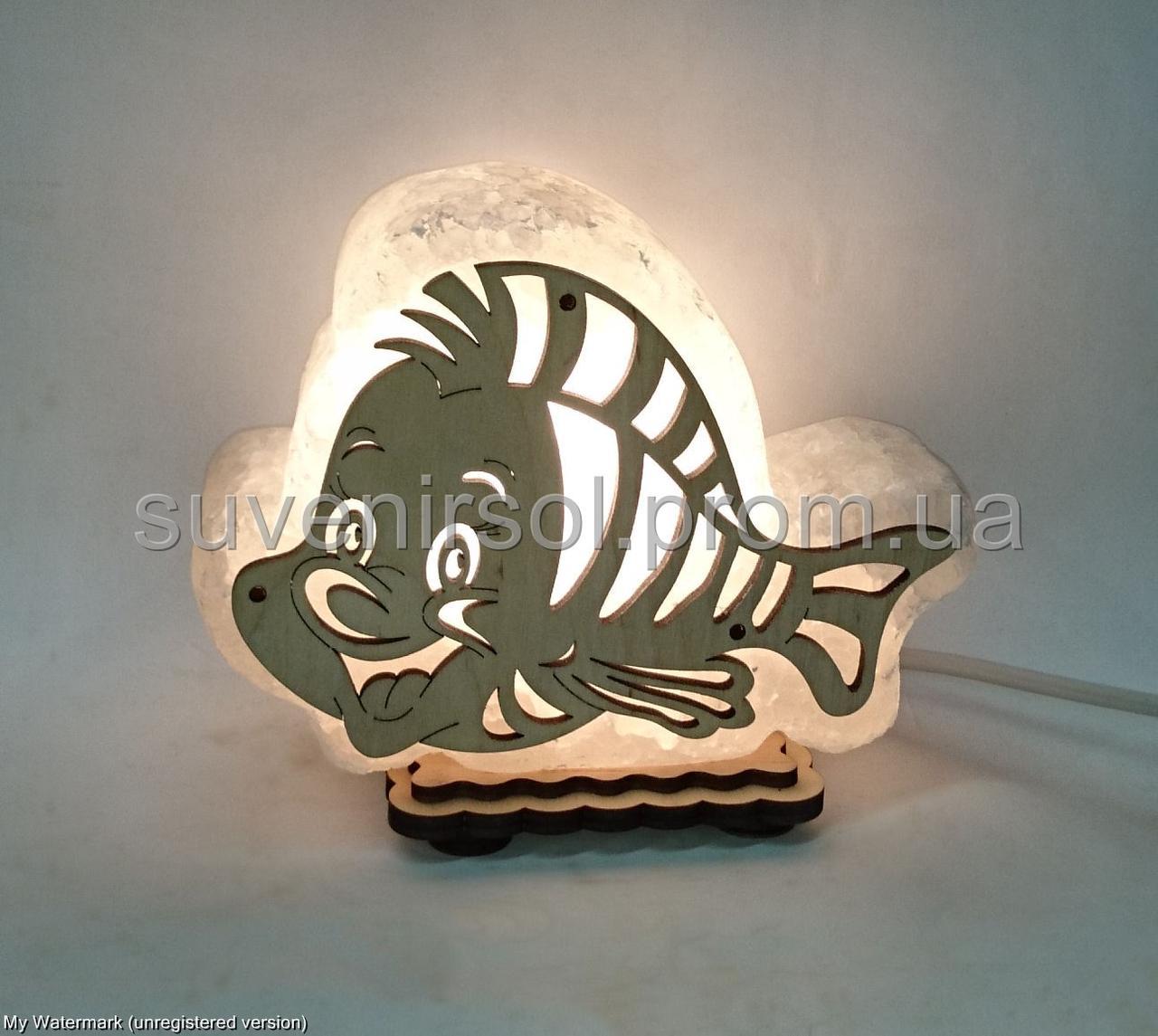 Соляная лампа Рыбка маленькая
