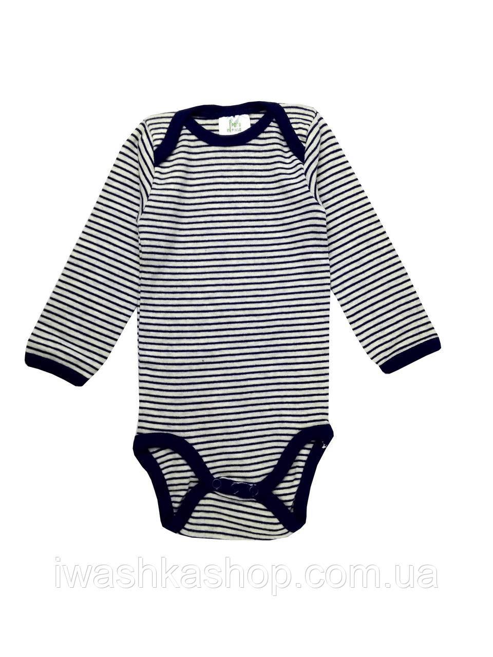 Боди с длинными рукавами на мальчика 6 - 12 месяцев, р. 74 - 80, Pocopiano