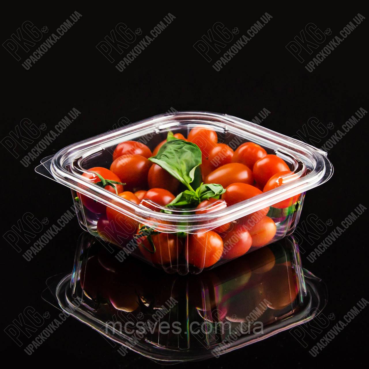 Упаковка для салатов безреберная с совместной крышкой РКСП-750, 320 шт/уп