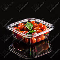 Упаковка для салатов безреберная с совместной крышкой РКСП-750, 320 шт/уп, фото 1