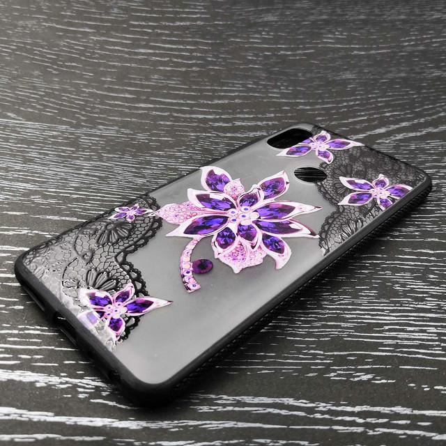 чехол Xiaomi Redmi Note 5 Pro накладка с фиолетовым цветком