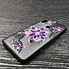 Чехол накладка для Xiaomi Redmi Note 5 Pro | Xiaomi Redmi Note 5 силиконовый Rock Series, Фиолетовый цветок, фото 2