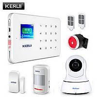 Комплект сигнализации Kerui alarm G18 с Wi-Fi IP камерой (в наличии). Оригинал! Гарантия 1 год