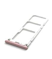 Лоток Sim-карты и карты памяти для Xiaomi Mi A2 Lite/Redmi 6 Pro, розовый, на две Sim-карты