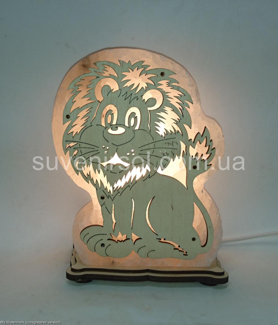 Соляная лампа Лев большой