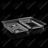 Пластиковая упаковка для суши и роллов УК-846, PET, прозрачный, 1710 мл, 260 шт/уп, фото 2