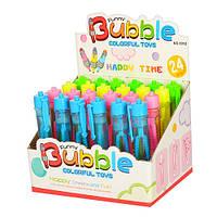 Мыльные пузыри 1012 ручка 12см, 24шт(4цвета) в дисплее, 18-12-14см