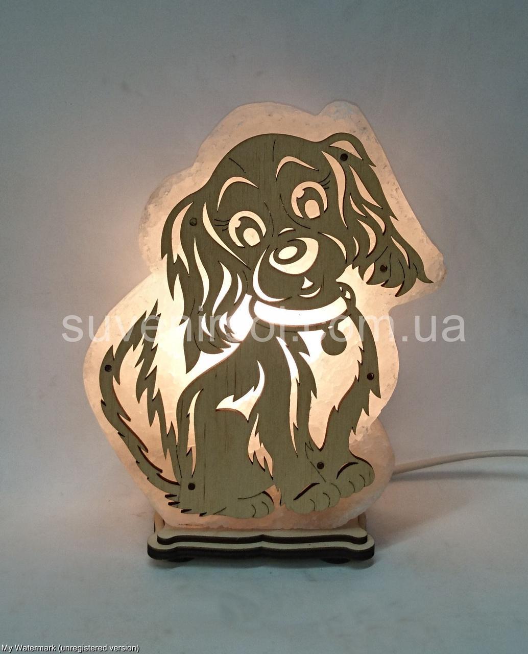 Соляная лампа Собака большая