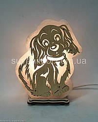 Соляна лампа Собака велика