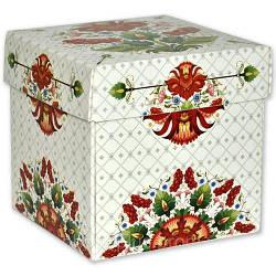 Упаковка для гуртки картонна з кришкою (Петриківський орнамент)