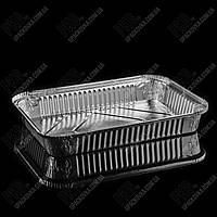 Контейнер с крышкой из пищевой алюминиевой фольги R33L (304*202*39)