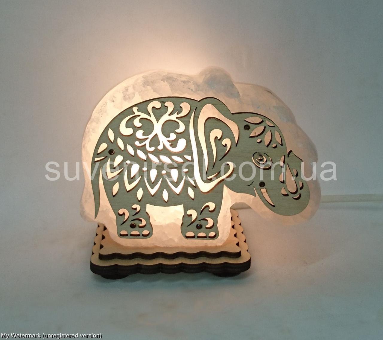 Соляная лампа Слон маленький