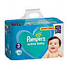 Подгузники «Pampers Active Baby-Dry  гиант пак 3» 90шт