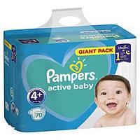 Подгузники «Pampers Active Baby-Dry  гиант пак 4+ плюс» 70шт