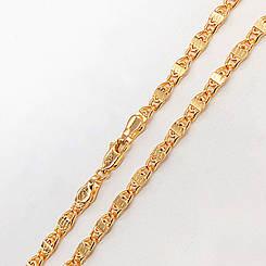 """Цепочка Xuping Jewelry 60 см х 4 мм """"Улитка"""" медицинское золото, позолота 18К. А/В 2710"""
