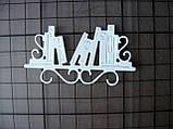 Вирубка з картону. Полиця з книгами, 37х68 мм, фото 2