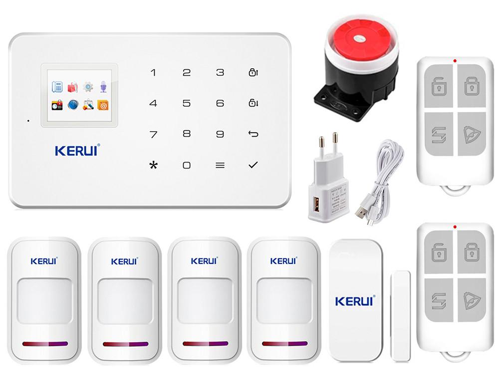 Комплект сигнализации Kerui G18 для 3-комнатной квартиры (в наличии). Оригинал! Гарантия 1 год