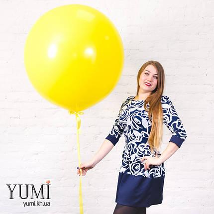 Яркий жёлтый шар-гигант с гелием, фото 2