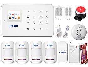 Комплект сигнализации Kerui G18 Pro для 3-комнатной квартиры (в наличии). Оригинал! Гарантия 1 год