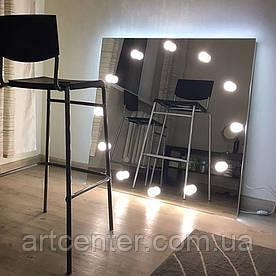 Дзеркало квадратне без рами для ламп з цоколями