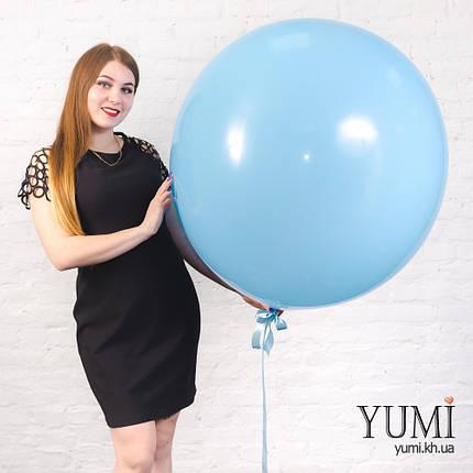 Гелиевый голубой шар-гигант для ребенка, фото 2