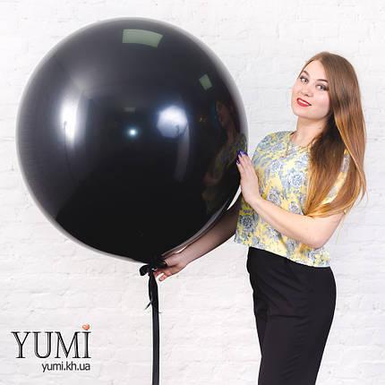 Стильный черный шар-гигант с гелием для мужчины, фото 2