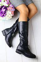 Сапоги женские весенние качественные модные удобные (черные)