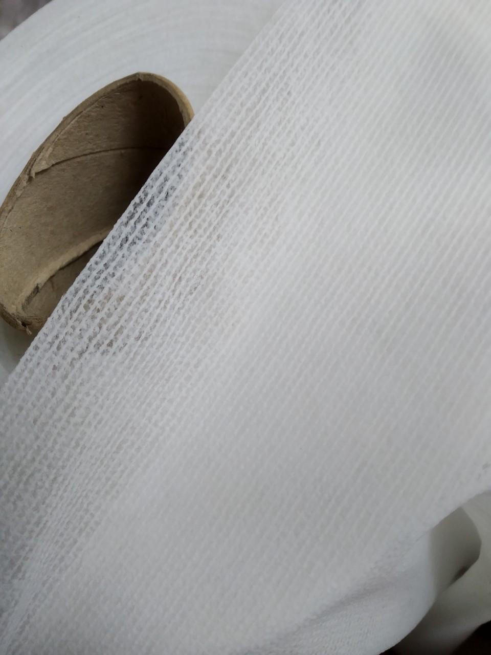 Флезелін клеєвий білого кольору, цупкий, ширина 90см