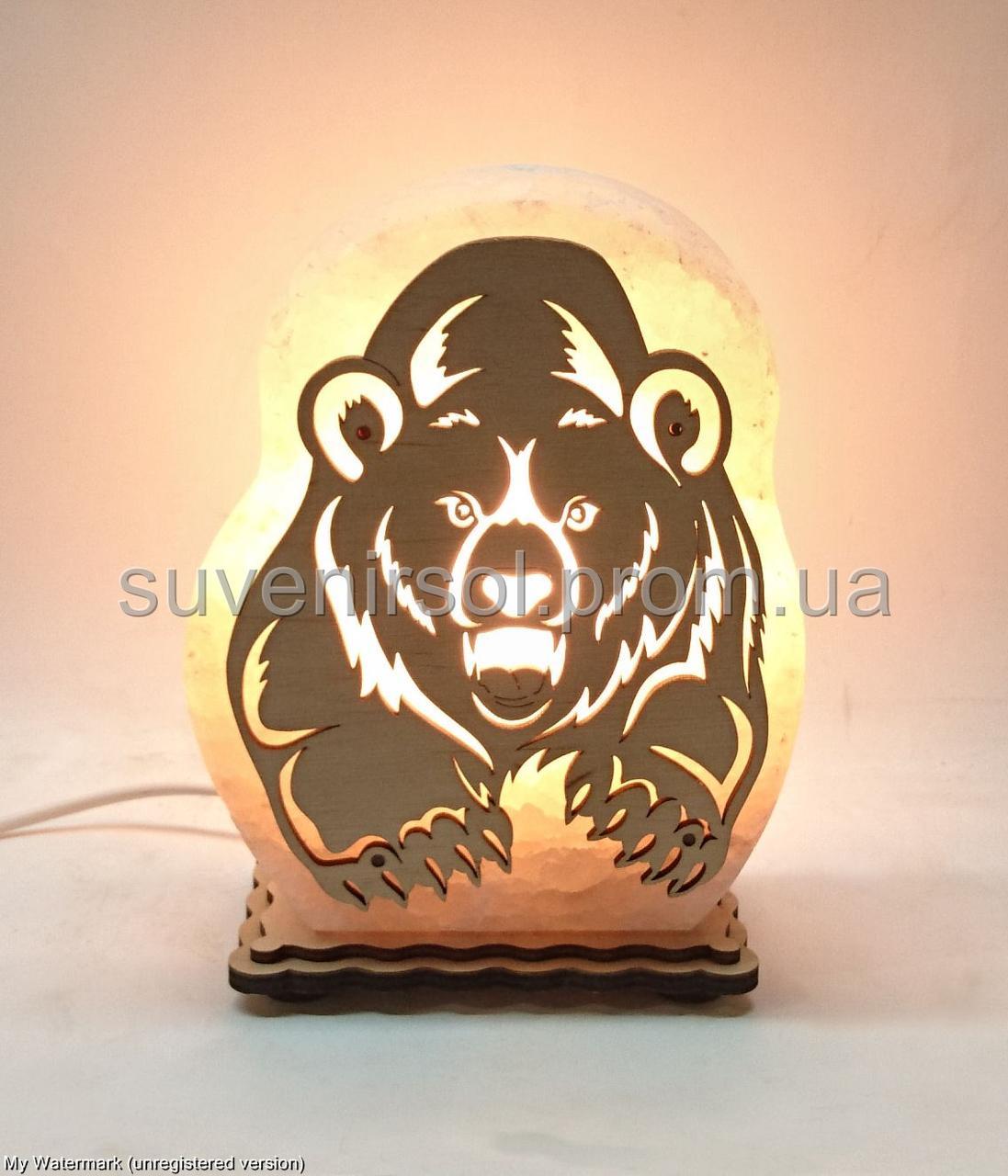 Соляная лампа Мишка злой