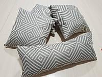 Комплект подушек беж лабиринт меандр ,4шт