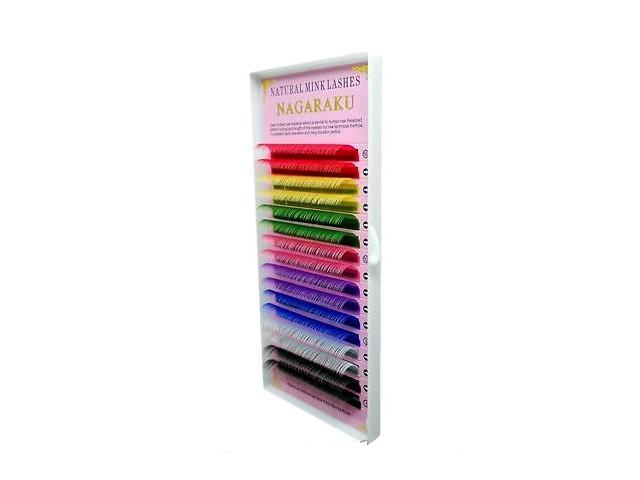 Ресницы для наращивания Nagaraku (цветные) 0.10 D 11 мм