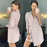 Стильное платье-пиджак цвета пудры, фото 2
