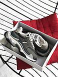 Женские кроссовки Balenciaga Triple S V2 Gray+. Живое фото (Реплика ААА+), фото 4