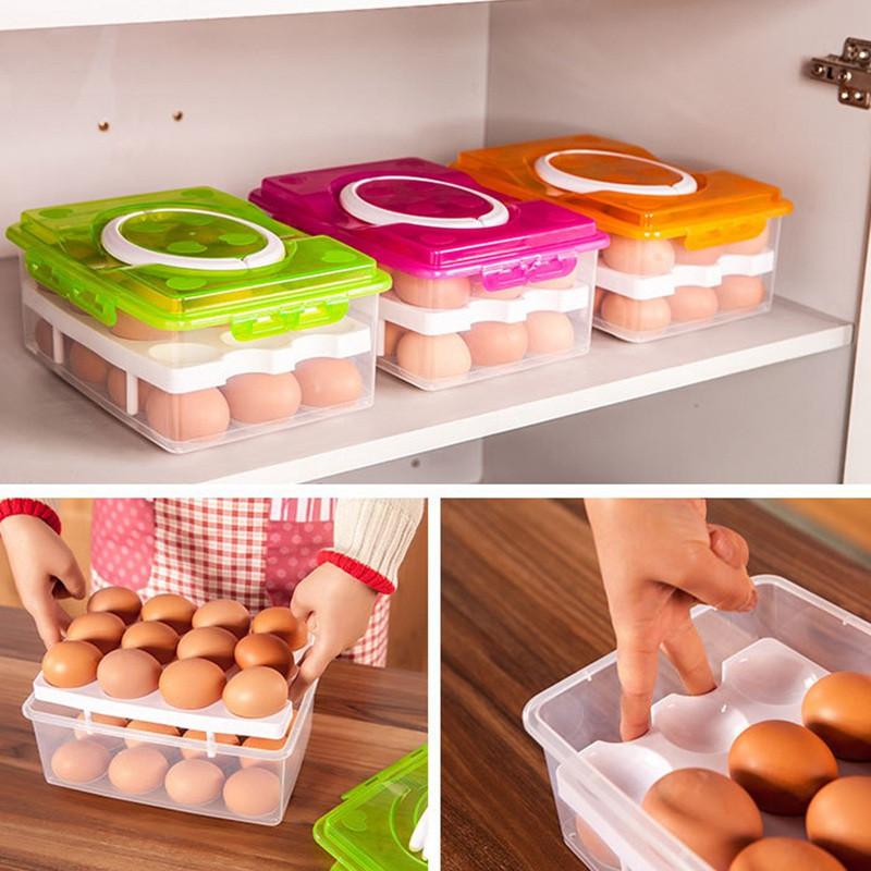 Контейнер для хранения яиц (24 шт) оранжевый