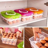 Контейнер для зберігання яєць (24 шт) помаранчевий, фото 1