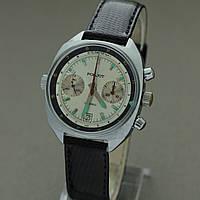 Poljot Полет механические часы хронограф СССР , фото 1