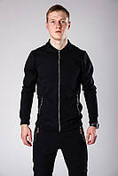 Спортивный костюм Квин стильный мужской весна/осень, цвет черный, фото 1